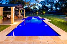 Pools by Freedom Pools - Australia's most awarded pool manufacturer. Cool Swimming Pools, Best Swimming, Cool Pools, Backyard Pool Designs, Backyard Ideas, Pool Companies, Concrete Pool, Pool Installation, Bar Grill