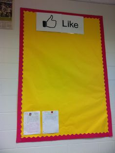 SIMPLE DISPLAY BOARD: For student work I like