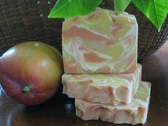 Mango Papaya Soap  New Hampshire Handmade Cold by MapleBeeProducts