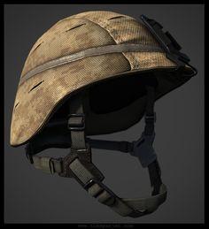 Tim Spanjer - 3D Environment Art - Character Artist - Soldier Helmet