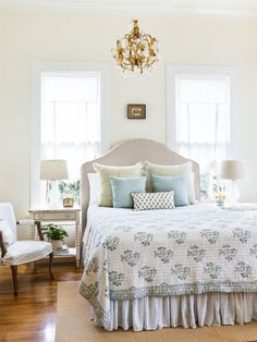 Look for vintage lights. Christi tops off each room with a showstopping antique fixture. Even with the cost of rewiring, they ring in for less than brand-new pendants and cast far more ambience.