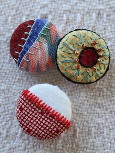 stitch embellished covered buttons