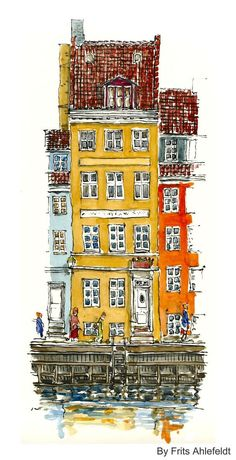 New House Drawing Sketches Urban Sketchers 28 Ideas Architecture Drawing Plan, Architecture Drawing Sketchbooks, Watercolor Architecture, Watercolor Sketch, Watercolor Illustration, Watercolor Paintings, Watercolors, Les Beatles, Usa Tumblr