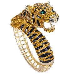 EVER FAITH GoldTone Tiger Bracelet Brown Austrian Crystal Enamel   gt  gt  gt  To 930378e63b43