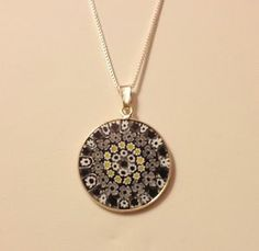 20 Beautiful Clear with Brown Millefiori Like Disc Round 26mm Craft Jewellery