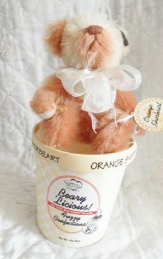 Dolls & Bears Annette Funicello Annette Funicello Pink Bear With White Bow On Head To Suit The PeopleS Convenience