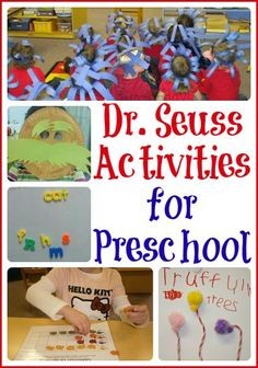 Some of our favorite preschool Dr. Seuss activities, along with others we can't wait to try! Snacks, math, arts and crafts, literacy, and dress up ideas.