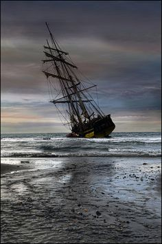 Aground . . . Ships were deliberately run aground every six weeks or so and hauled on their side to have the bottom scraped and a new coating put on them. Called 'careening'. GENTLEMAN OF FORTUNE www.evelyntidmanauthor.com