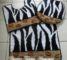 Tapete frufru Zebra | Charme Tapetes Artesanais | Elo7                                                                                                                                                                                 Mais