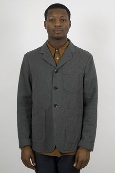 MHL Margaret Howell Staff Jacket Cotton Wool Twill    http://ideologyboutique.co.uk/mhl-staff-jacket-cotton-wool-twill-grey-marl.html