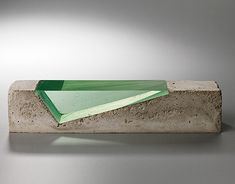 concrete and glass by Deb Jones I like the contrast of textures and transparency.