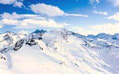 Hämta bilder 4k, Alperna, vinter, berg, snödrivorna, Österrike, Europa