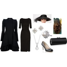 """""""Catherine inspired funeral outfit"""" by sovereign-wardrobe on Polyvore"""