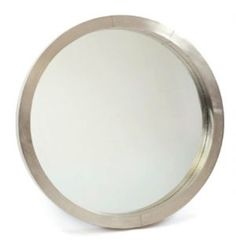 ****** Frisbee Antique Nickel-Plated Mirror - Clayton Gray Home