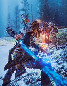 Aloy's been spotted. Horizon Zero Dawn Cosplay, Horizon Zero Dawn Wallpaper, Assassin, Horizon Zero Dawn Aloy, Beast, God Of War, Best Games, Overwatch, Game Art
