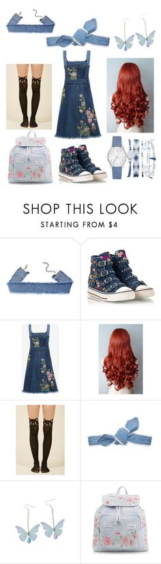 """Flowers & Denim"" by christina-j-whelan ❤ liked on Polyvore featuring Ash, Alexander McQueen, Colette Malouf, New Look and A.X.N.Y."