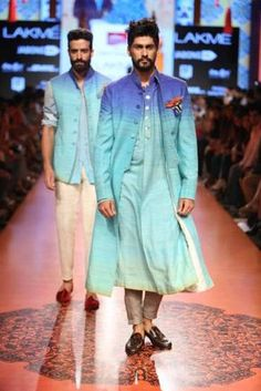 Soma Sengupta Indian Men- Modern Ombre Blue!