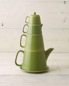 Classic Coffee & Tea 'Tea Tower' 6pc Teapot Set
