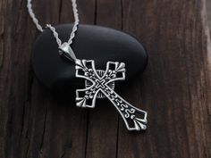 Silver Celtic Cross Necklace Irish Celtic Cross by LifeOfSilver,