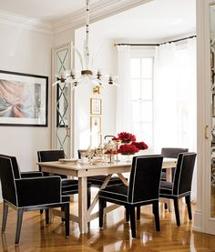 Elegantly Chic Dining Room | House & Home. http://cococozy.com