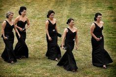 lace black bridesmaid dresses
