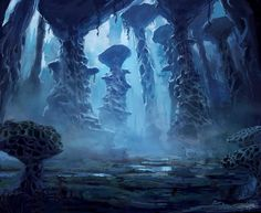 Illustrations done for Fantasy Flight Games' Eldritch Horror The Dreamlands Expansion. Fantasy Art Landscapes, Fantasy Landscape, Landscape Art, Fantasy Concept Art, Fantasy Artwork, Dark Fantasy, Fantasy Places, Fantasy World, Cthulhu Art