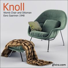 Chair Womb Chair and Ottoman
