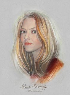 Pretty Face - Amanda Seyfried by *Amro0 on deviantART {digital art}