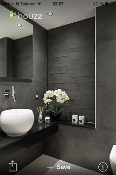 Is your home in need of a bathroom remodel? Give your bathroom design a boost with a little planning and our inspirational 65 Most Popular Small Bathroom Remodel Ideas on a Budget in 2018 Grey Bathroom Interior, Grey Bathrooms, Modern Bathroom Design, Beautiful Bathrooms, Small Bathroom, Master Bathroom, Bathroom Ideas, Bathroom Designs, Luxury Bathrooms