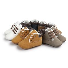 Khaki Lace Up Baby Boots //Price: $13.18 & FREE Shipping //     #Buybies
