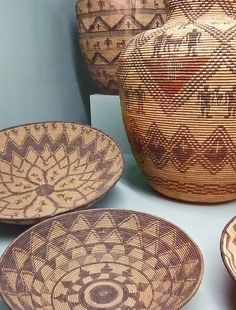 Western Apache baskets and shallow trays   Photographed at the Maryhill Museum of Art in Goldendale, Washington.