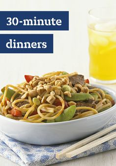 30-Minute Dinner Ideas – Get dinner on the table in 30 minutes or less with these easy and delicious recipes. From veggie skillets to chicken pasta tosses, you'll be sure to find the right recipe for you here!