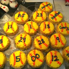Rice Crispy Treat Softballs
