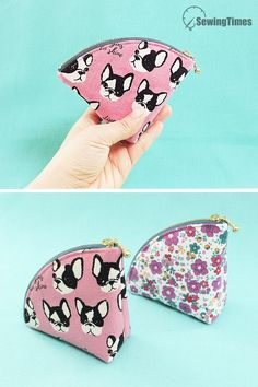 DIY SWEET POUCH BAG This fan shape pouch is a cute yet multi useful pouch for you to make. Diy Coin Purse No Sew, Coin Purse Tutorial, Diy Purse, Diy Wallet Tutorial, Diy Clutch, Bag Patterns To Sew, Sewing Patterns, Diy Coin Purse Pattern, Diy Leather Wallet Pattern