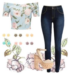 """Feeling Floral"" by xlaceyphillipsx on Polyvore featuring Universal Lighting and Decor, Miss Selfridge and Christian Louboutin"