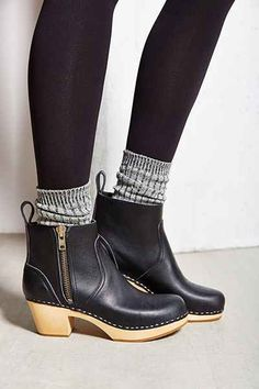 I'm OBSESSED with these boots right now!! ~ Swedish Hasbeens Zip It Emy Ankle Boot