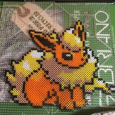 Flareon (Pokémon) perler beads by cheese_wrapper