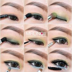 Add a little bit of ice blue shadow underneath the eye. | 19 Awesome Eye Makeup Ideas For Asians