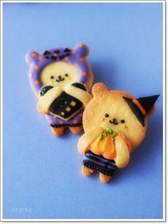 Kawaii!! halloween bears witch cookies アイシングクッキー&シュガー教室 acorne(アコルネ)の画像