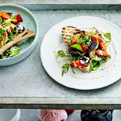 Roasted Butternut & Aubergine Salad with Tahini Dressing