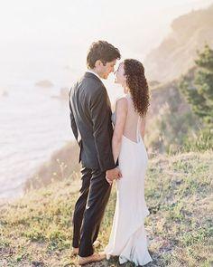 "A Big Sur wedding with #AmsaleBride Sarah in ""Heather""! | #RealWedding @ClaryPfeiffer"