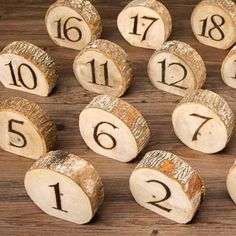 David+Tutera™+Rustic+Wedding+Wood+Slice+Table+Numbers:+20+pieces #weddingdecoration