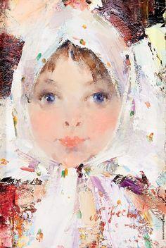 Фешин Николай Иванович [1881—1955] Маленькая русская девочка.