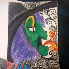 ...colored pencils& micron
