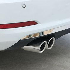 Universal Auto Car Exhaust Muffler Stainless Steel Tail Pipe Chrome Modified Car Tail Throat Liner Pipe Exhaust System