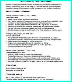 Clerical Resume Sample Provides Your Chronological Order Of