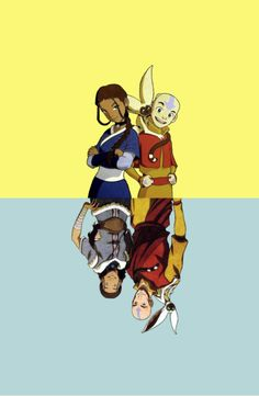 Katara and anng- the last airbender and legend of korra