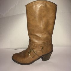 Brown boots Brown boots that look good for dressing up or casual. Worn about 5 times. Just don't wear them enough to keep them. Very cute and comfy!! BONGO Shoes Heeled Boots
