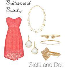Bridesmaid Beauty by jvmusto on Polyvore featuring Stella & Dot www.stelladot.com/JessM