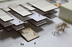 MAQUETTE University campus of the Valle d'Aosta Recovery and Transformation of the ex military barracks Testafochi Architecture Panel, Architecture Drawings, Architecture Portfolio, Concept Architecture, School Architecture, Interior Architecture, Architecture Models, 3d Modelle, Arch Model